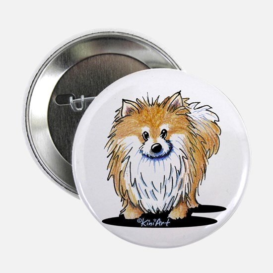 "KiniArt™ Pomeranian 2.25"" Button"