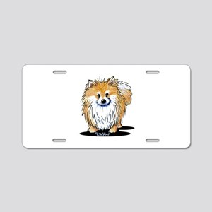KiniArt™ Pomeranian Aluminum License Plate