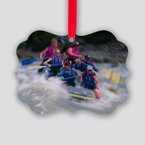Whitewater rafting - Picture Ornament