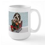 Dudley in Winter Sleigh Large Mug