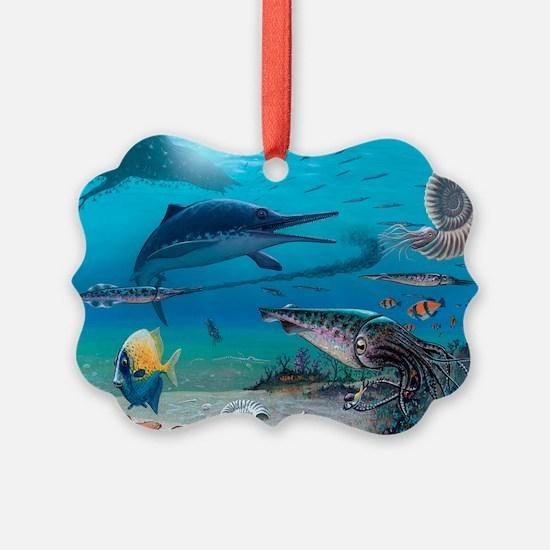 Ichthyosaur and prey - Ornament