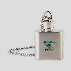 Marathon Chick #3 Flask Necklace