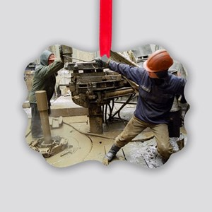 Oil drill operators - Picture Ornament