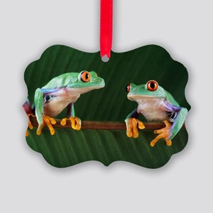 Red-eyed tree frogs - Picture Ornament