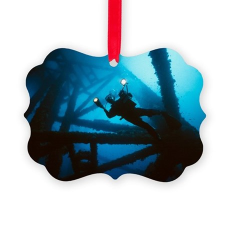 Scuba diver - Picture Ornament