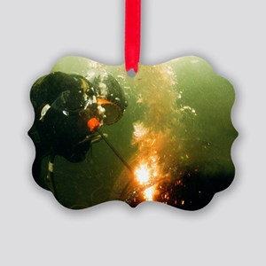 Welding underwater - Picture Ornament