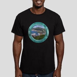 St Thomas Porthole Men's Fitted T-Shirt (dark)