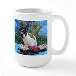 Buttercup Bunny on Lily Pads 2-Large Mug