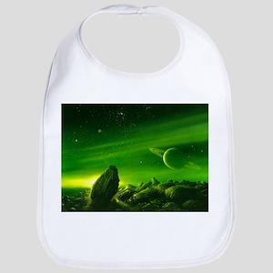 Alien ringed planet, artwork - Bib