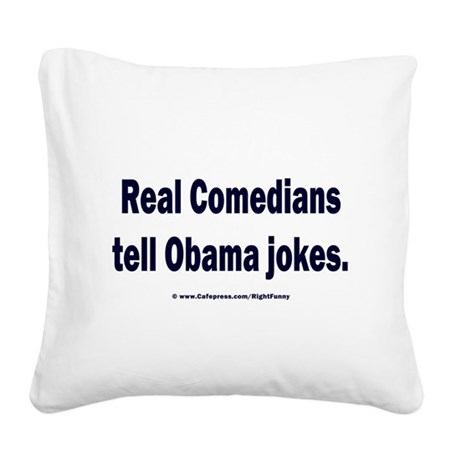 Real Comedians Square Canvas Pillow