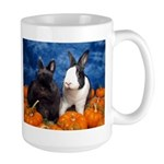 Tiny Tim and Dixie in Pumpkin Patch Large Mug