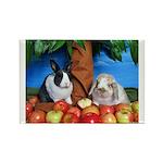 Dinah and Macintosh Picking Apples Rectangle Magne