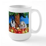 Dinah and Macintosh Picking Apples Large Mug