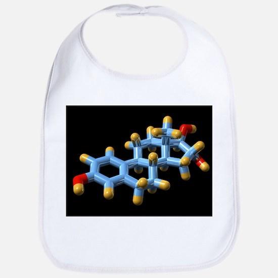 Oestriol hormone, molecular model - Bib