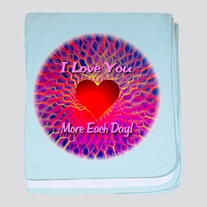 I Love You More Each Day baby blanket