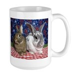 Scarlett and Emmer on 4th of July picnic Large Mug