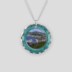 St Thomas Porthole Necklace Circle Charm