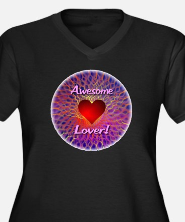 Awesome Lover Women's Plus Size V-Neck Dark T-Shir
