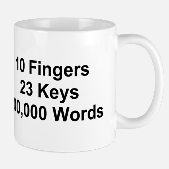 TEXT 10 Fingers 23 ... Mug