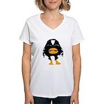 Laughing Penguin 1 Women's V-Neck T-Shirt