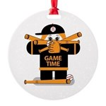 Game Time Round Ornament