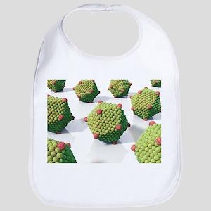 Icosahedral virus particles, artwork - Bib