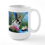 Buttercup Bunny on Lily Pads-1 Large Mug