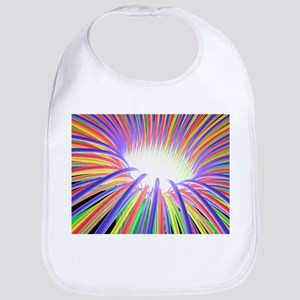 Multicoloured light ray funnel, artwork - Bib