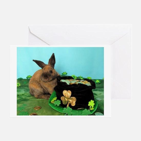 Buddy the Lucky Bunny Greeting Card