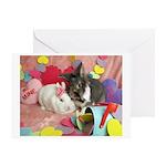 Olivia and Skyler, Valentine Bunnies Greeting Card
