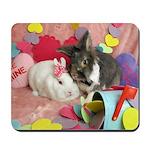 Olivia and Skyler, Valentine Bunnies Mousepad