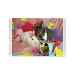 Olivia and Skyler, Valentine Bunnies Rectangle Mag