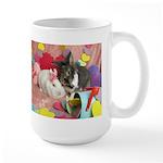 Olivia and Skyler, Valentine Bunnies Large Mug