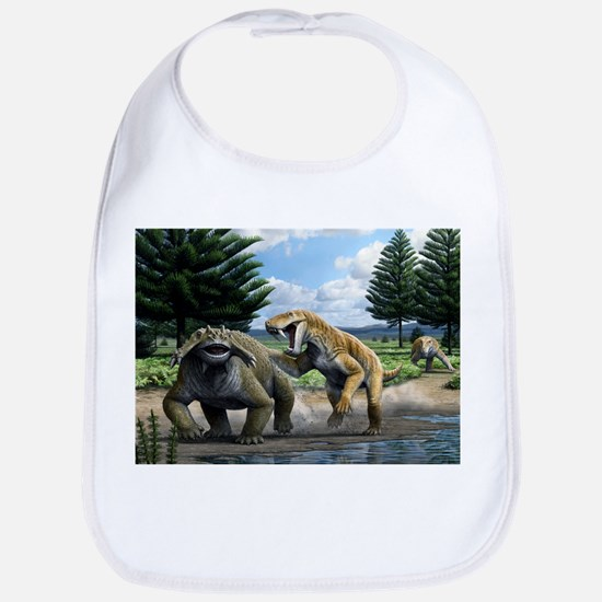 Permian animals, artwork - Bib
