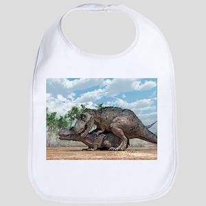 Tyrannosaurus rex dinosaurs mating - Bib