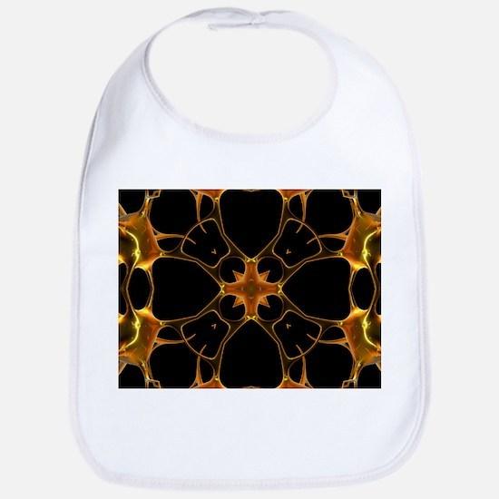 Neurons, kaleidoscope artwork - Bib