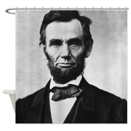 Abe Lincoln Shower Curtain