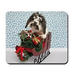 Dudley in Winter Sleigh Mousepad