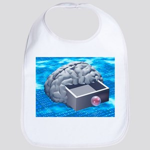 Brain capacity, conceptual artwork - Bib