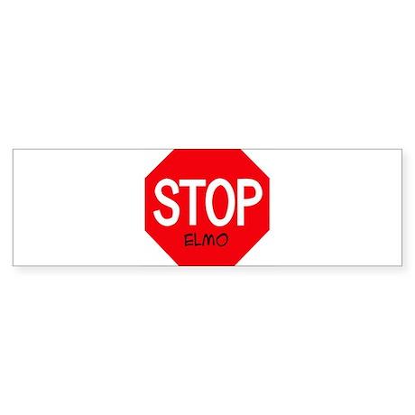 Stop Elmo Bumper Sticker