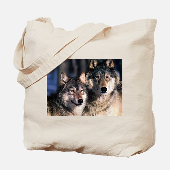 two wolf Tote Bag
