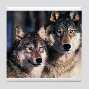 two wolf Tile Coaster