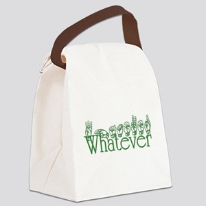 Whatever in ASL Canvas Lunch Bag