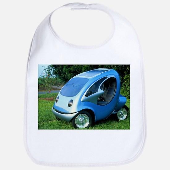 Electric car with solar panels - Bib