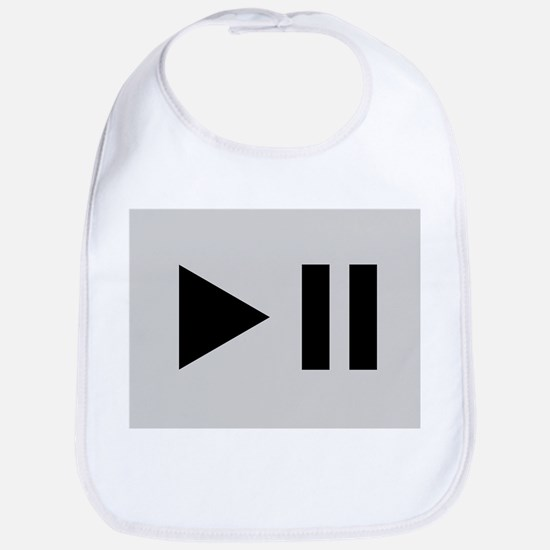 Play and pause signs - Bib
