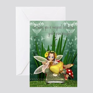 Great granddaughter fairy birthday greeting cards cafepress great granddaughter happy birthday cute fairy m4hsunfo