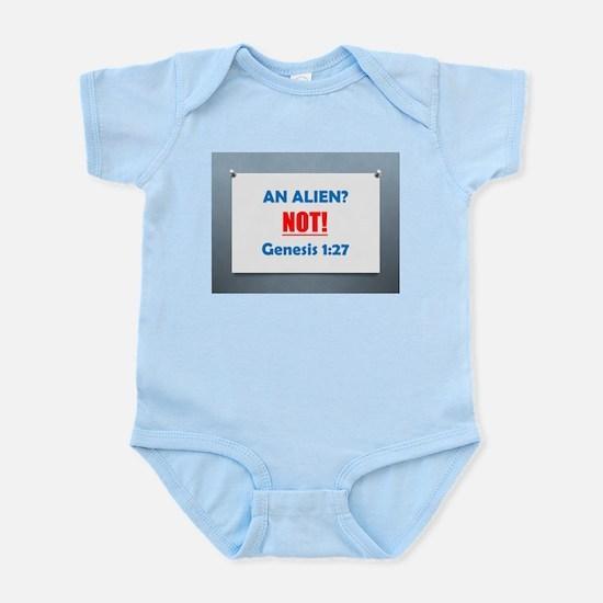 An Alien? NOT! Genesis 1:27 Infant Bodysuit