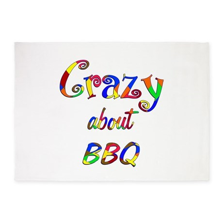 Crazy About BBQ 5'x7'Area Rug
