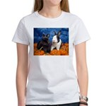 Tiny Tim and Dixie in Pumpkin Patch Women's T-Shir
