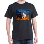 Tiny Tim and Dixie in Pumpkin Patch Dark T-Shirt